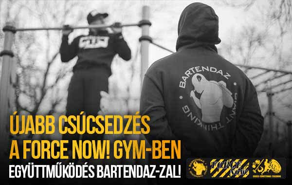 BARtendaz a Force Now! Cross-Functional Gym-ben!